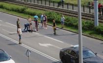 Skutki wypadku na ul. Kartuskiej