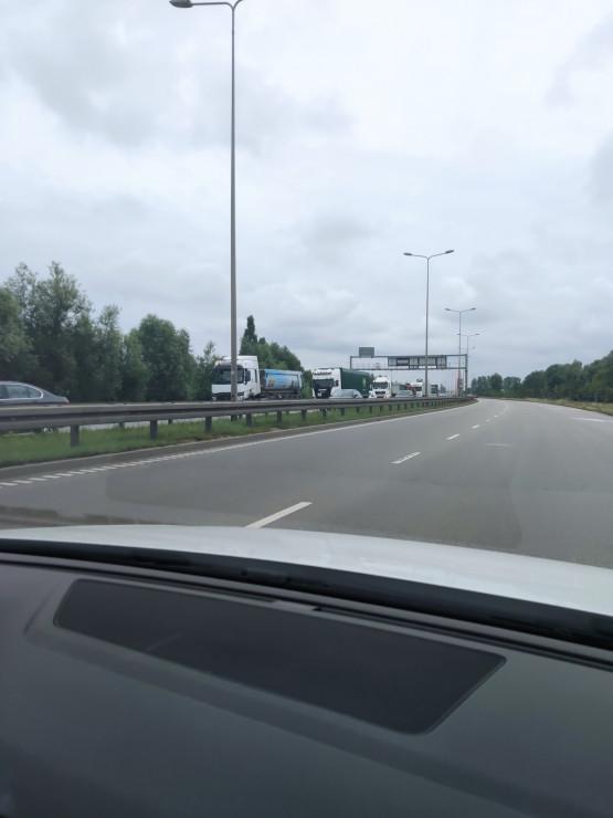 Korek na Sucharskiego i w tunelu do węzła Ku Ujściu