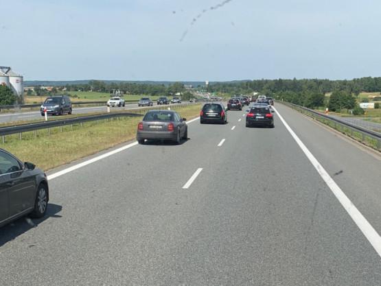 Korek na S7 stronę Gdańska