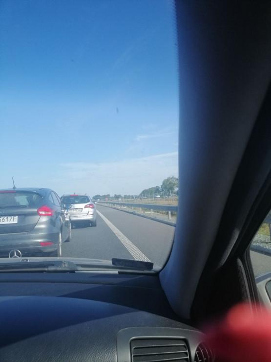 Korek na trasie S7 w kierunku Elbląga