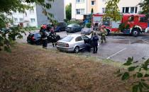 Pożar samochodu na Chełmie