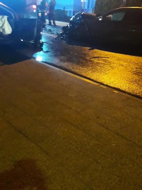 Skutki wypadku na ul. Świętokrzyskiej