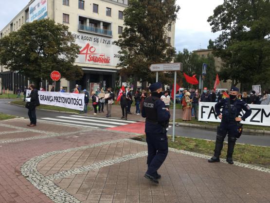 Protest przeciwko przemarszowi nacjonalistów
