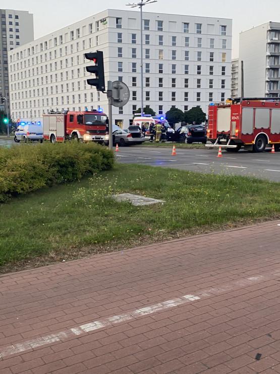 Wypadek na skrzyżowaniu na Kołobrzeskiej