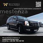 Cadillac Escalade reklama - Wypożyczalnia samochodów Mestenza Rafał Grzebin