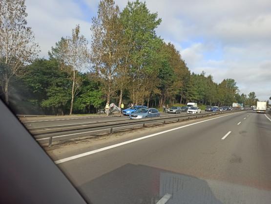 Zablokowana obwodnica na Matarni po wypadku