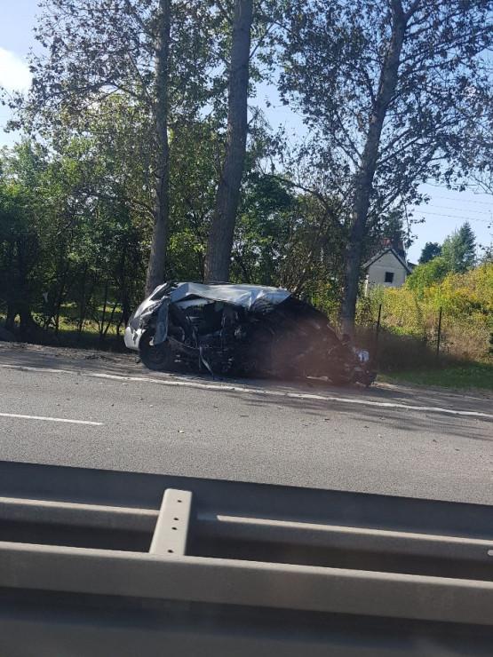 Skutki wypadku na obwodnicy na Matarni