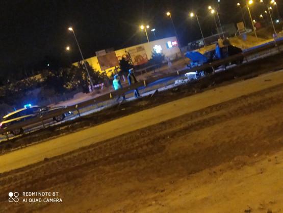 Wypadek przed zjazdem na Dąbrowę