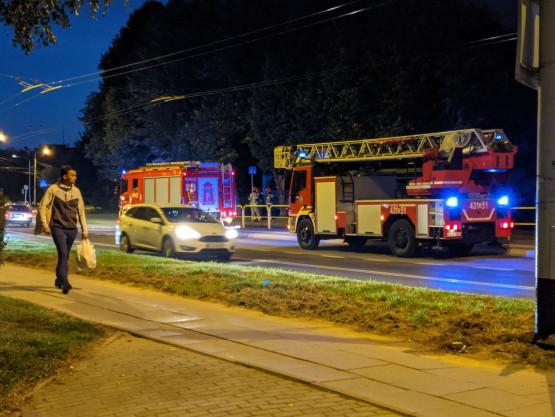 Interwencja strażaków na Dąbrowie