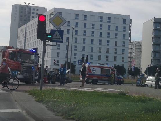 Wypadek na skrzyżowaniu Chłopskiej i Kołobrzeskiej