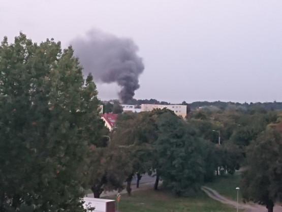 Pożar na Żabiance. Kilka zastępów straży jechało na miejsce.