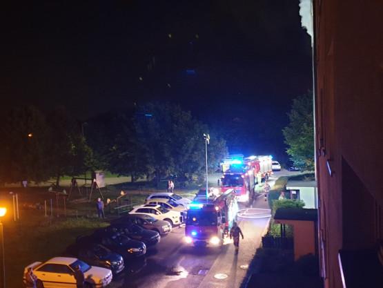 Pożar mieszkania przy ul. Buraczanej w Gdyni