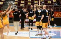 Trefl Sopot - BMSlam Stal Ostrów Wlkp. 82:66. Dominik Olejniczak z double-double
