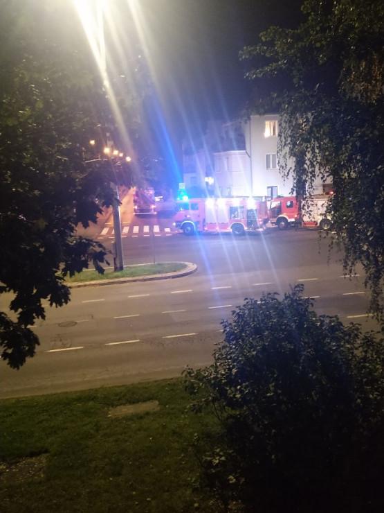 Akcja strażaków na Grunwaldzkiej w Oliwie