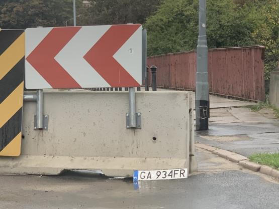 Zgubiona rejstracja z Gdyni na Toruńskiej w Gdańsku