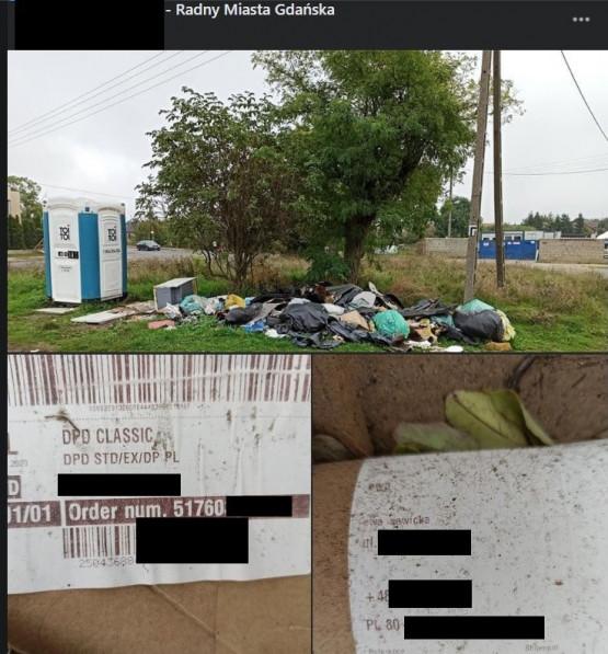 Dzikie wysypisko śmieci przy stacji w Osowej