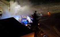 Kilka minut temu płonęło auto dostawcze na...