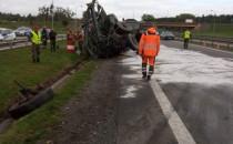 Odblokowano obwodnicę po wypadku ciężarówek