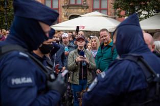 Marsz przeciwników restrykcji związanych z Covid w Gdańsku