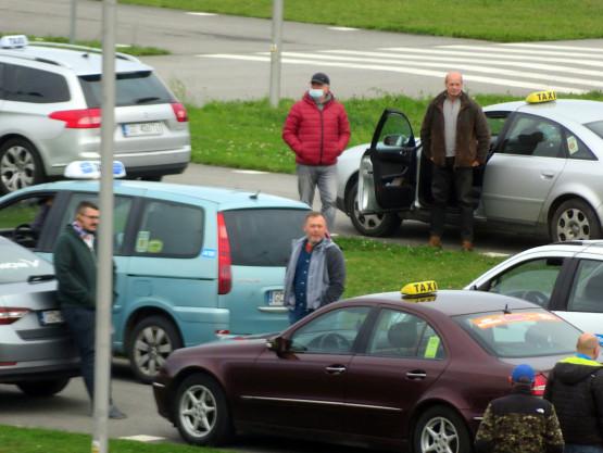 Trwa protest taksówkarzy