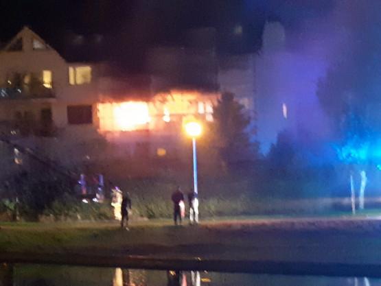 Pożar mieszkania na Dąbrowie