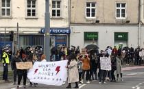 Tłumy protestujących wrócił w okolice Huciska