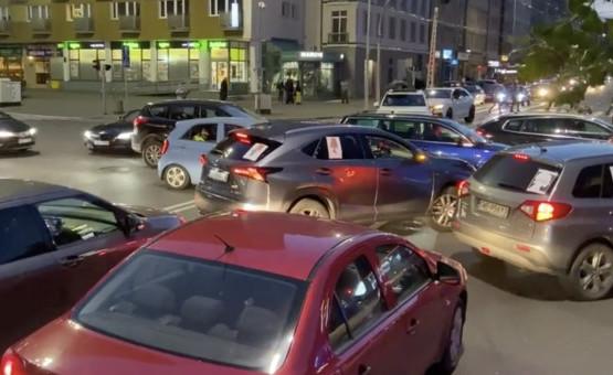 Protestujący kierowcy blokują Trójmiasto
