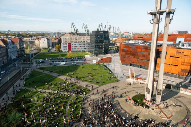 25.10.2020   Protest Gastronomii i  Protest Kobiet w Gdańsku