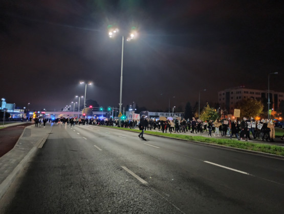 Protestujący w Oliwie