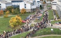 Protest studentów Uniwersytetu Gdańskiego...