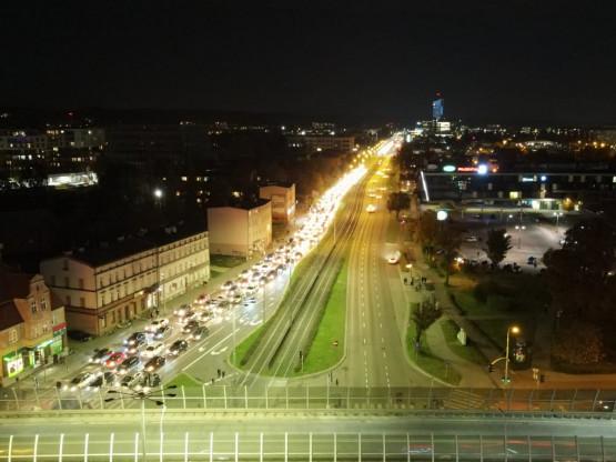 Sznur samochodów blokuje al. Grunwaldzką