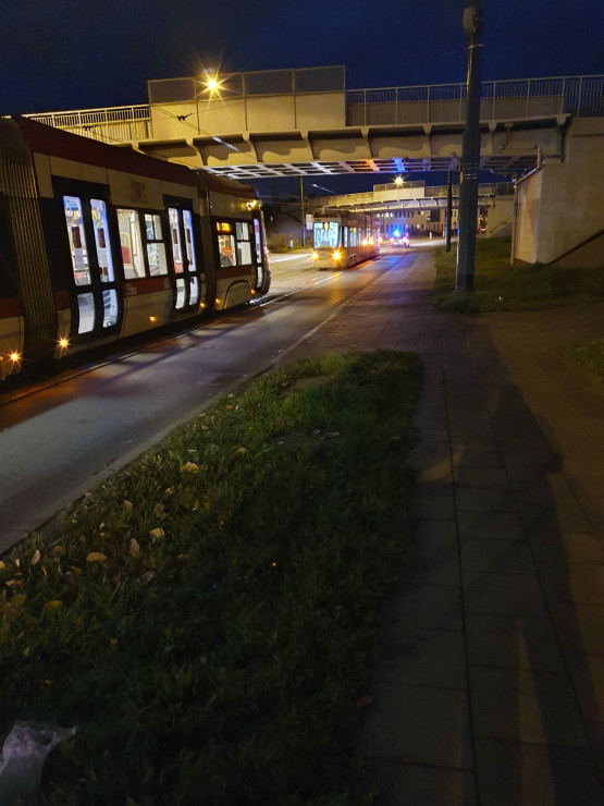 Awaria tramwaju na ul. Lenartowicza