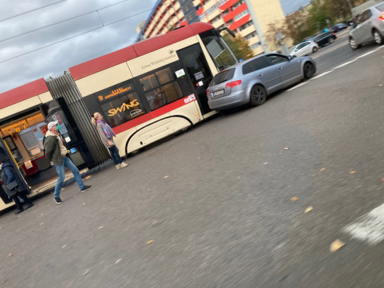 Chłopska Jagiellonska zderzenie tramwaju