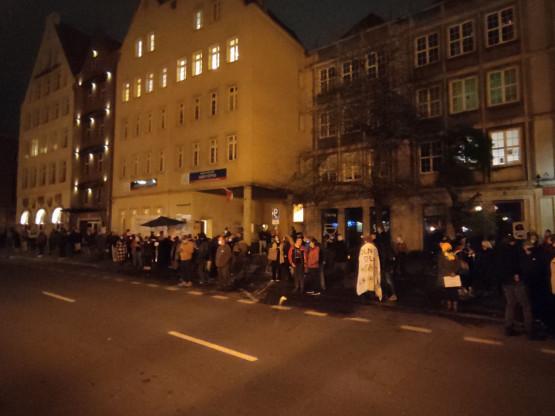 Niska frekwencja na proteście w Gdańsku