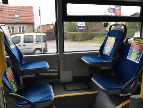 Czy wiadomo kiedy pościągają bezsensowne kartki z siedzeń z autobusów i tramwajów?