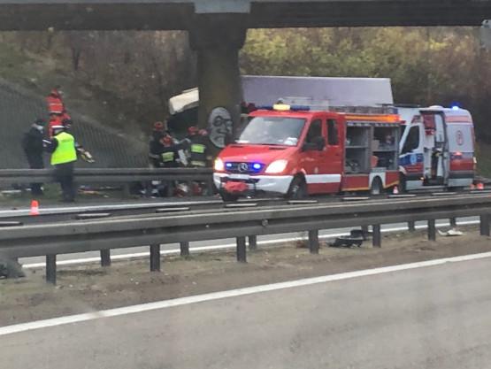 Skutki wypadku na obwodnicy - korek w kier. Gdańska