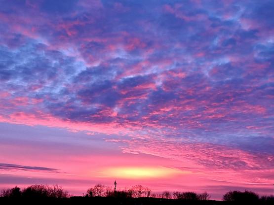 Piękne niebo nad Ujeściskiem