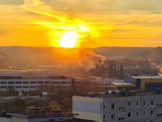 Znowu pożar w okolicach elektrociepłowni w Gdyni