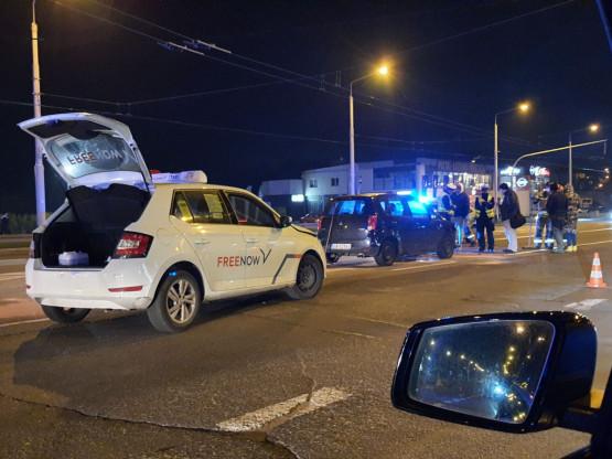 Stłuczka na skrzyżowaniu ul. Wielkopolskiej i Parkowej