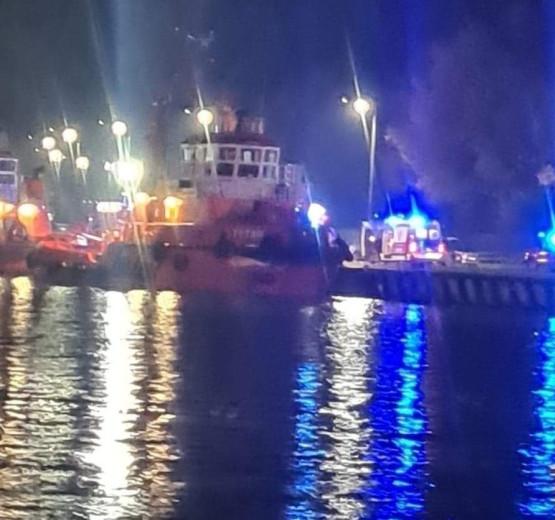 Akcja służb na Westerplatte. Mężczyzna wpadł do wody.