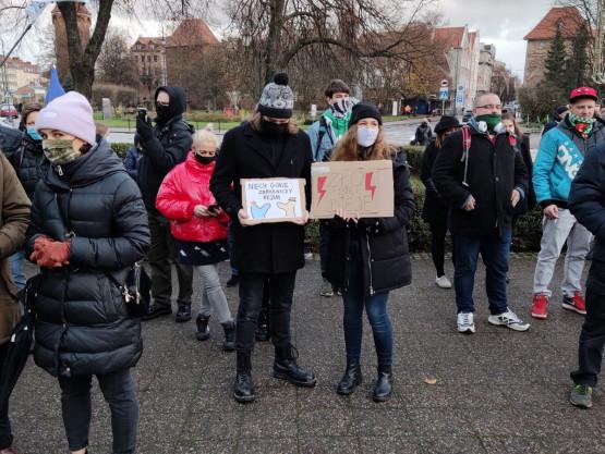 Rozpoczął się protest w centrum Gdańska