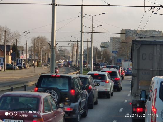 Wypadek na Morskiej w Gdyni Chyloni, kierunek obwodnica/Gdańsk