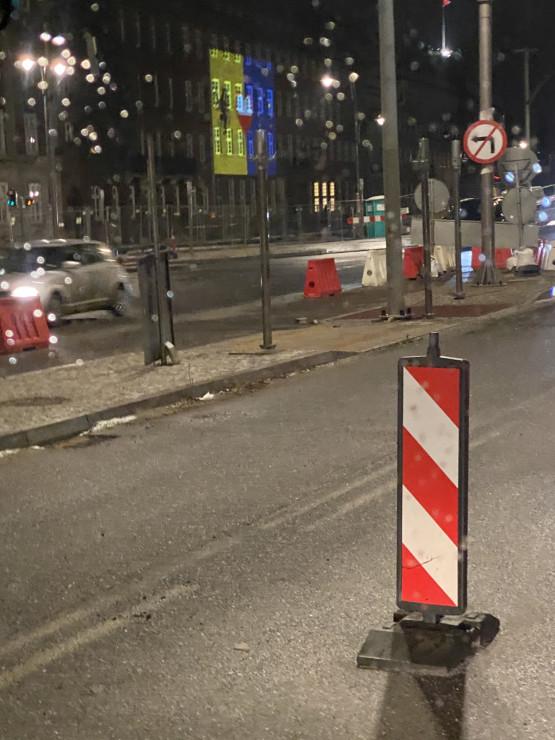 Grafika wyświetlana na Urzędzie Marszałkowskim w Gdańsku