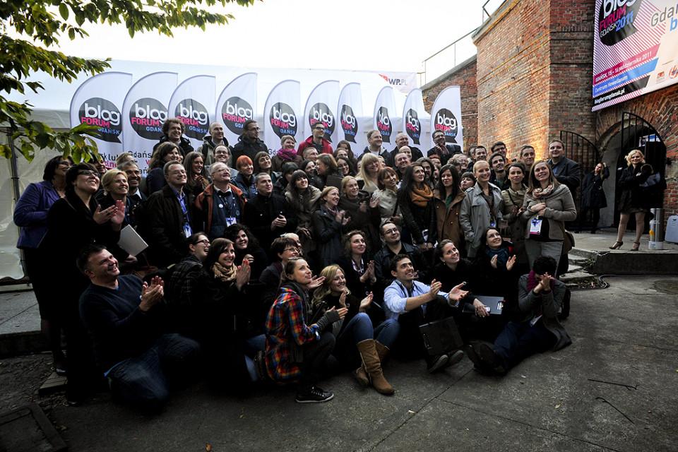 Pamiątkowe zdjęcie uczestników Blog Forum Gdańsk 2011