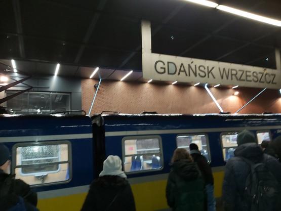 Awaria pociągu SKM we Wrzeszczu