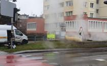 Naprawa po awarii. Plac Komorowskiego