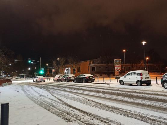 Przymorze, Jagiellońska, ulice nieodśnieżone