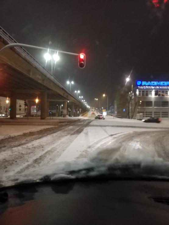 Bardzo trudne warunki drogowe w Gdyni
