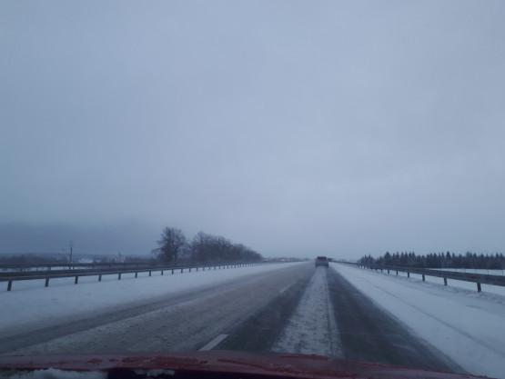 Śnieg na S7