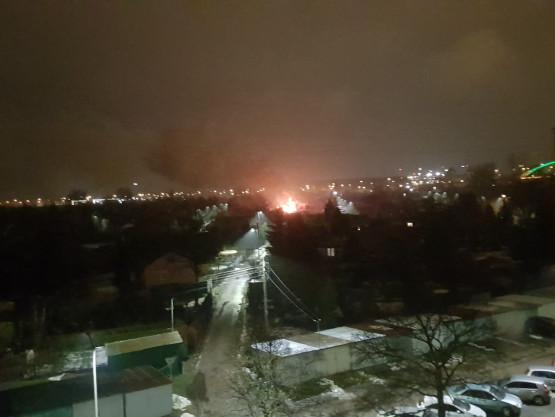 Pożar na działkach we Wrzeszczu Dolnym